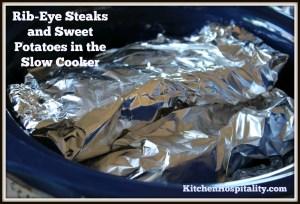 Ribeye Steak in the Slow Cooker