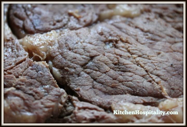 Slow Cooker Rib-eye Steak and Sweet Potato Meal