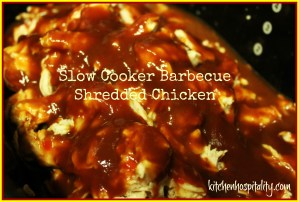 Barbecue Shredded Chicken in the Slow Cooker