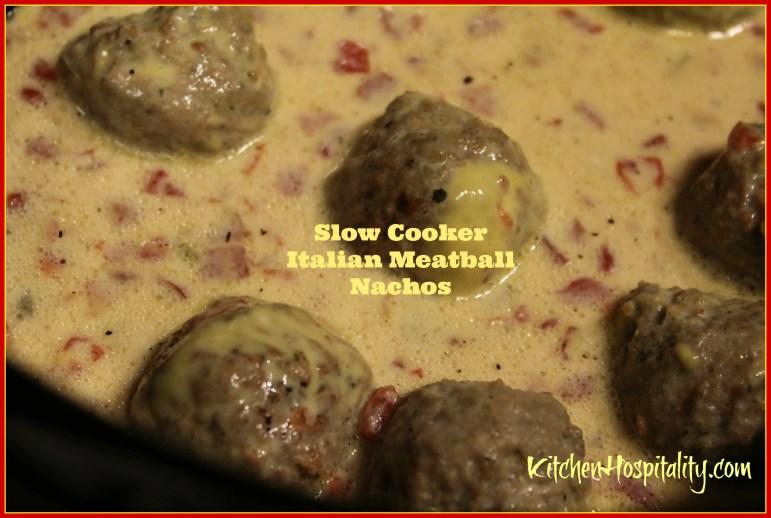 Slow Cooker Mexi-Italian Meatball Nachos