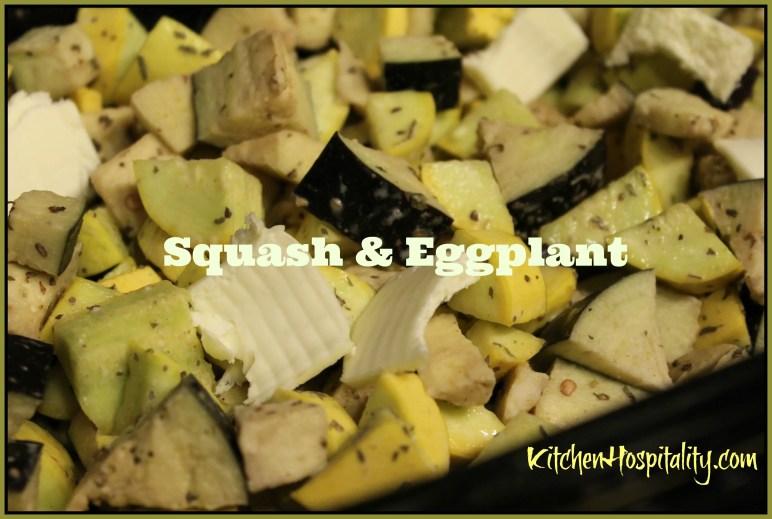 Slow Cooker Squash & Eggplant