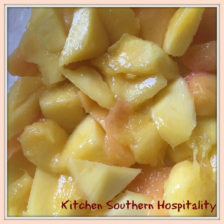 Mango, Peach, and Mandarin Orange Vanilla Pudding