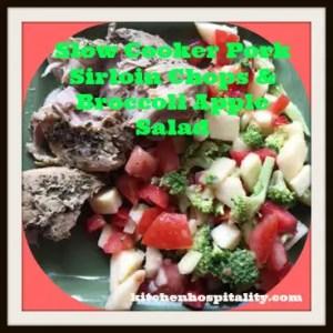 Slow Cooker Pork Sirloin Chop Dinner for Two
