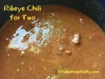 Ribeye Chili - a Slow Cooker Meal for Two