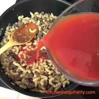 Southern Comfort Macaroni Goulash