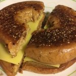 National Grilled Cheese Day - a Vegan Cheese Bagel