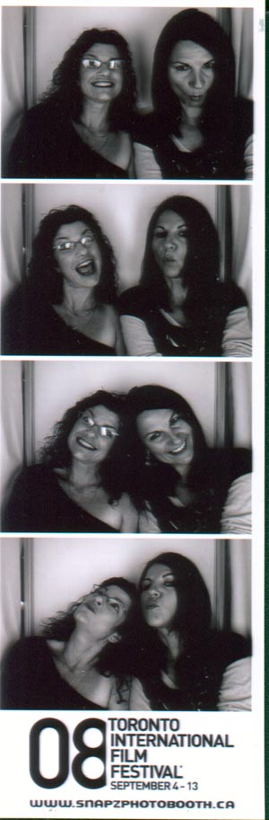 Pam and Eva at Dundas Square Photo Booth