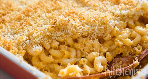 Macaroni & cheese met een korstje