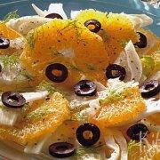 Salade van sinaasappel, venkel en olijven