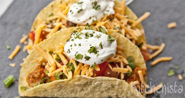 Taco's met kruidig gehakt