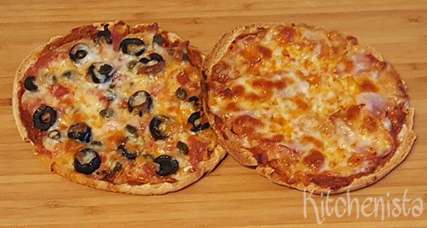 Minipizza's van pitabroodjes