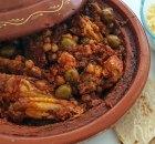 Tajine met pittige kip en kikkererwten