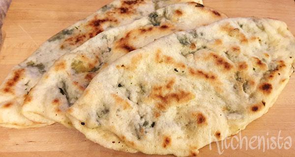 Turkse gözleme met spinazie en kaas