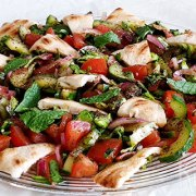 Fattoush – Libanese salade met gegrild brood
