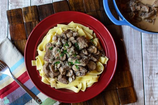 Beef-Sauté-with-Cream-and-Mushroom-Sauce