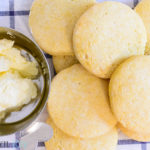 Homemade Cornmeal Biscuits with Whipped Honey Butter