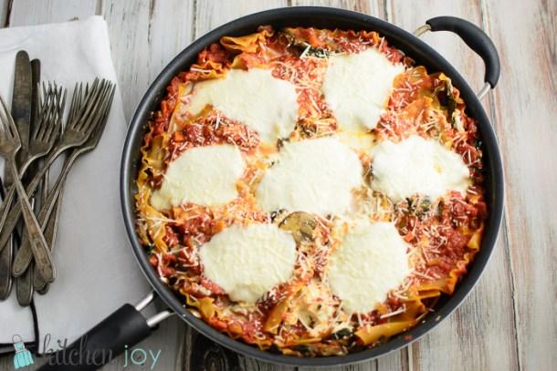 Spinach-Mushroom-Skillet-Lasagna