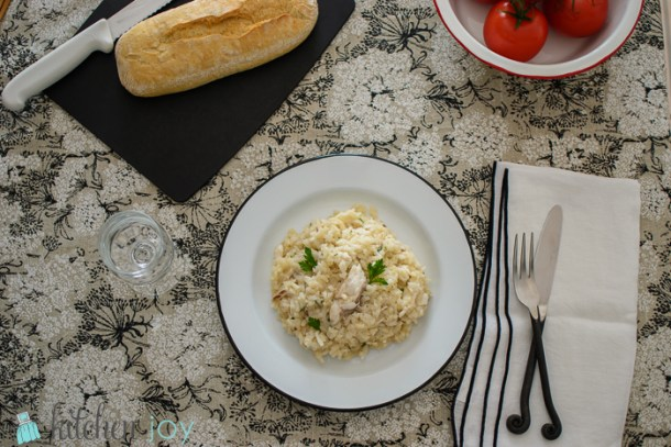 Risotto with Branzino - Kitchen Joy