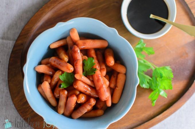 Balsamic Glazed Baby Carrots - Kitchen Joy