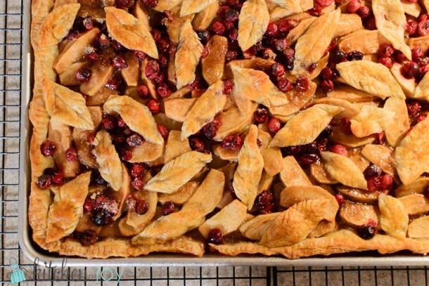 Cranberry Apple Slab Pie- Kitchen Joy