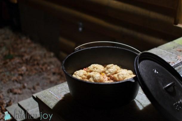 Campfire Chicken and Dumplings