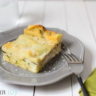 Chicken and Spinach White Lasagna- Kitchen Joy