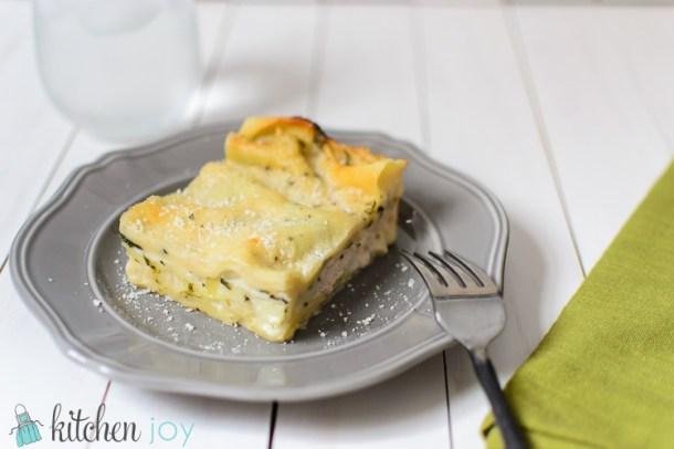Spinach Chicken Lasagna