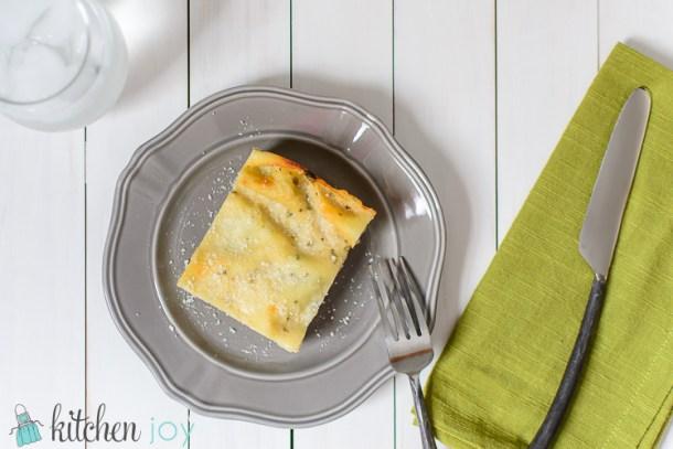 Chicken and Spinach White Lasagna - Kitchen Joy