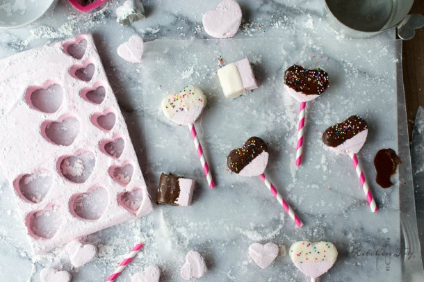Chocolate-Covered Strawberry Marshmallows (Homemade Marshmallows)