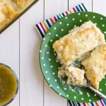 Salsa Verde Chicken Enchiladas with White Sauce