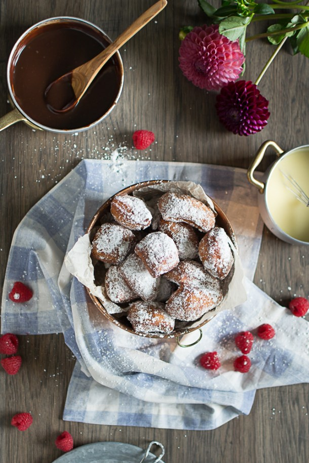beignets recipe, homemade beignets, easy yeast donuts, foolproof beignets recipe, self published cookbook, michigan food blogger,