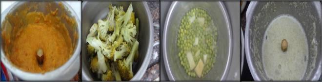Alu mutter gravy with broccoli-2