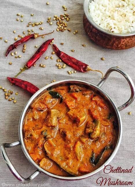 Chettinad Mushroom Recipe/ Chettinad Mushroom Masala