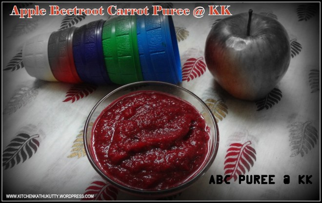 apple beet root carrot puree