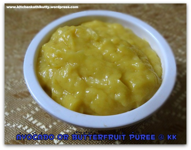 butter fruit puree