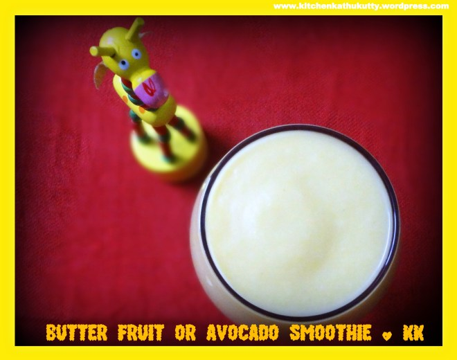 Butterfruit smoothie