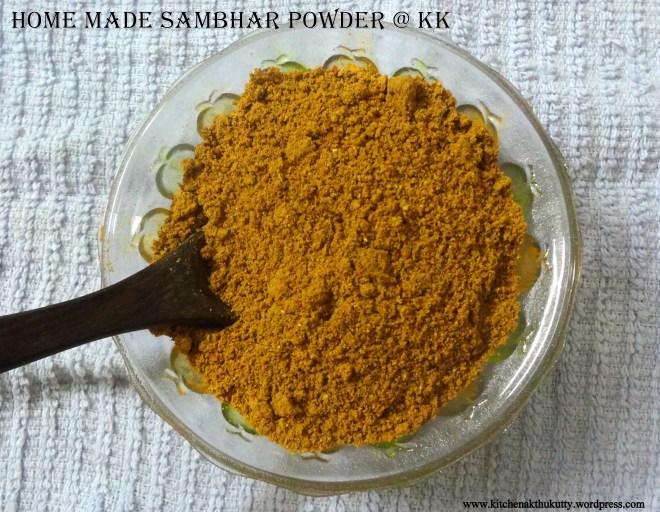 home made sambhar powder