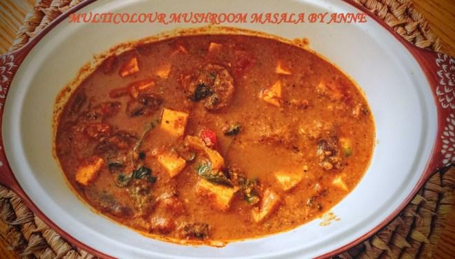 multicolour mushroom masala