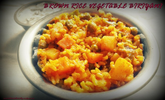 vegetable biriyani with brown rice.JPG