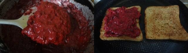 beet root sandwich
