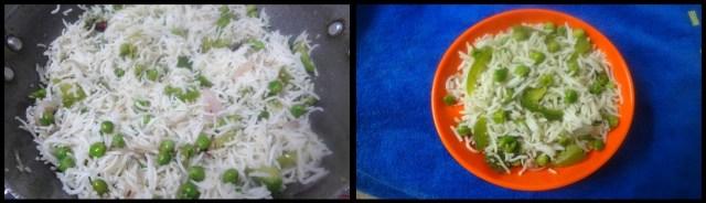 peas capsicum pulao