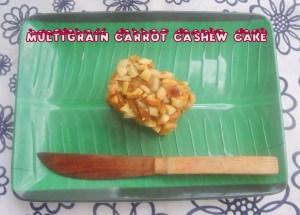 multigrain cashew carrot cake