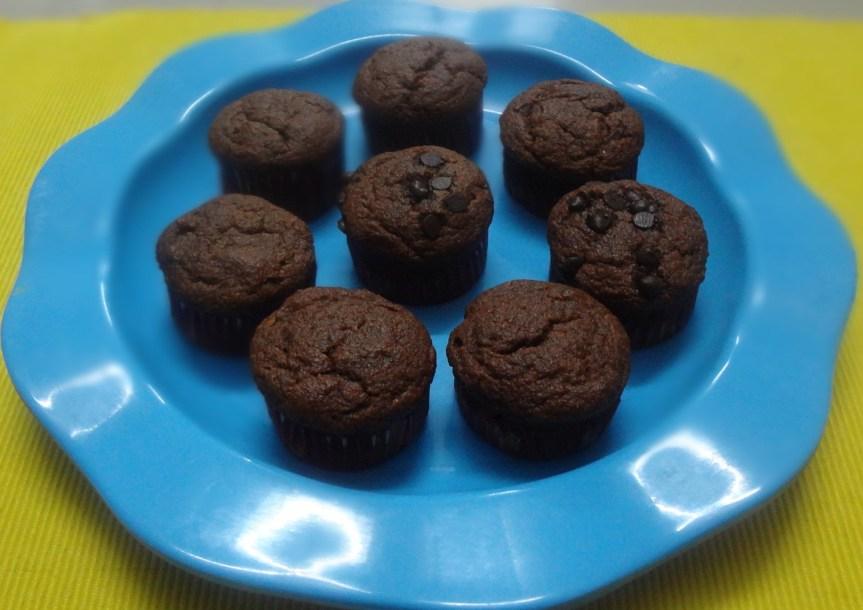 eggless mango muffins