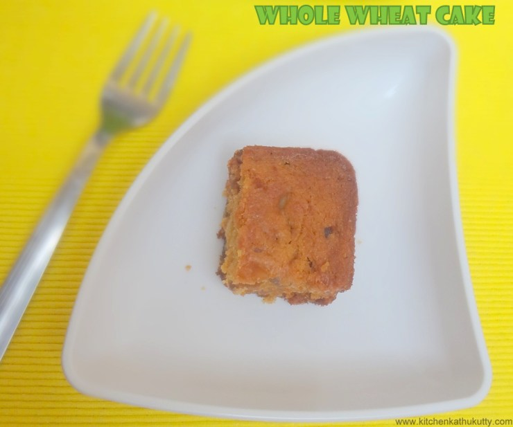 whole wheat flour tutti fruti cake