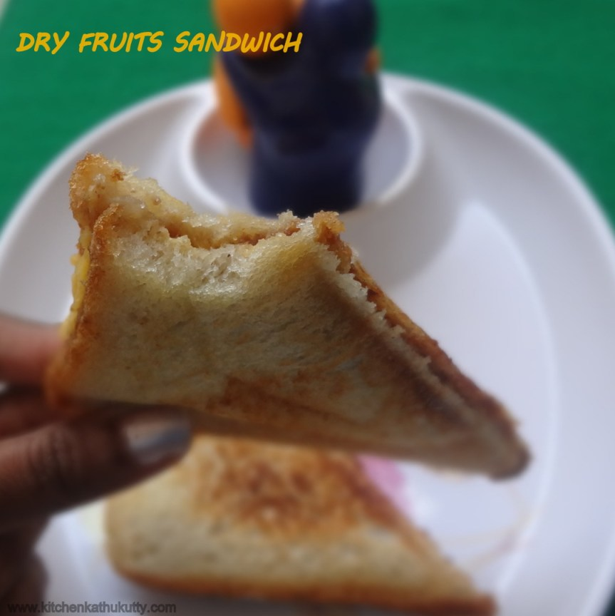 DRY FRUITS SANDWICH FOR TODDLERS