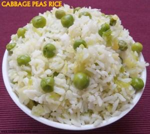 Cabbage peas rice