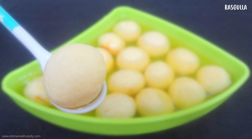 home made spongy rasgulla
