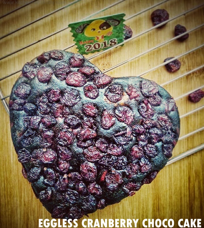 Eggless Cranberry Choco Beet Cake|Whole Wheat Beet Cranberry Choco Cake for Kids and Toddlers