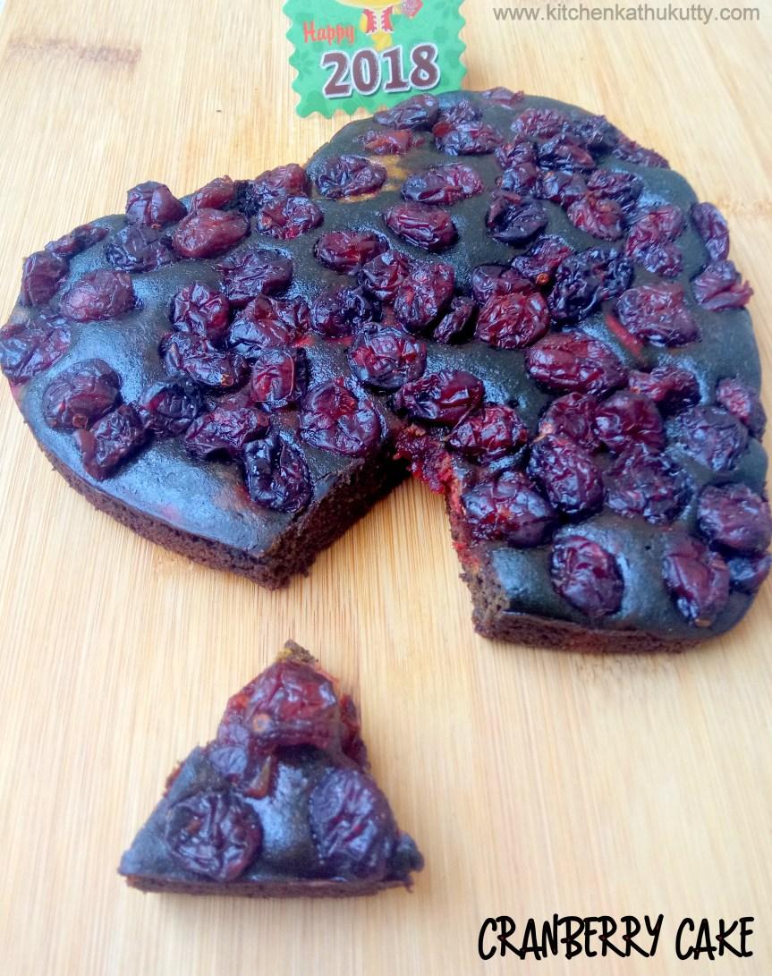 egglesswholewheatcranberry cake