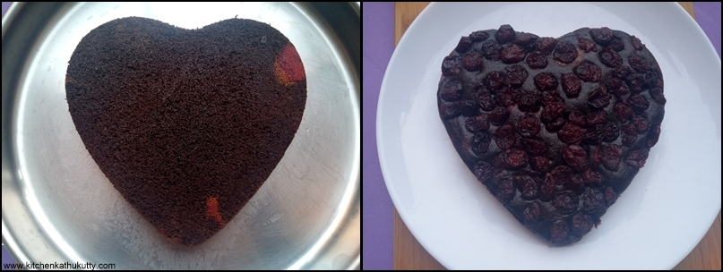 Eggless cranberry Choco Cake